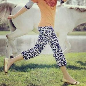 Lily Pulitzer Horse Of Course Corduroy Capri Pants